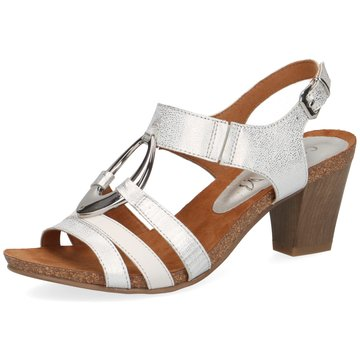 Caprice Komfort Sandale silber