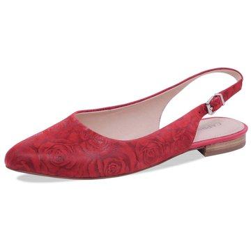 Caprice Sling Ballerina rot