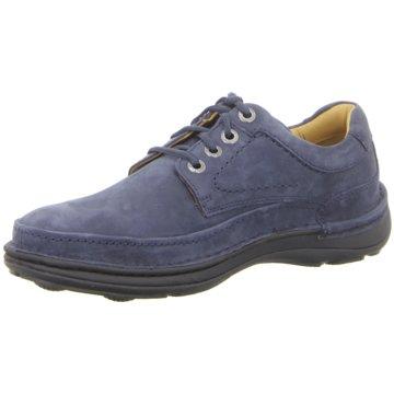 Clarks Komfort SchnürschuhNature Three blau