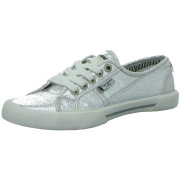 PEPE Jeans Sneaker LowAberlady Metal silber