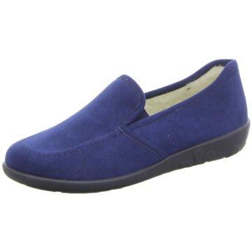 Rohde Komfort Slipper blau