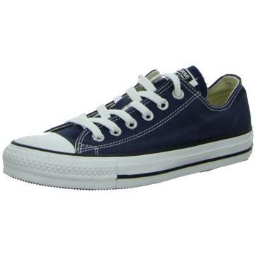 Converse Sneaker LowFlach Schnürrer blau