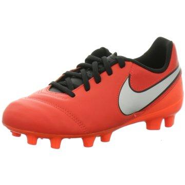 Nike FußballschuhJunior Tiempo Legend VI FG Kinder Fußballschuhe Nocken rot orange