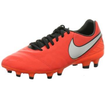 Nike Nocken-SohleTiempo Mystic V FG Herren Fußballschuhe Nocken weiß/orange orange