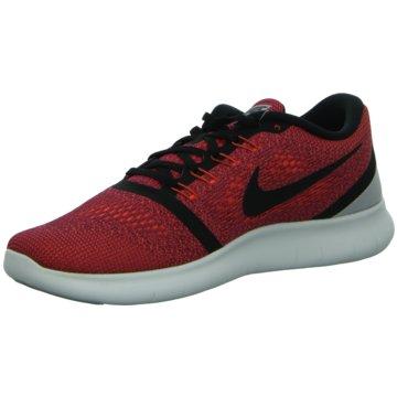Nike Sneaker LowFree Run Herren Laufschuhe Running orange rot