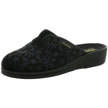 Fischer Schuhe Hausschuh schwarz