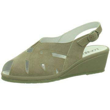 Longo Komfort Sandale grün