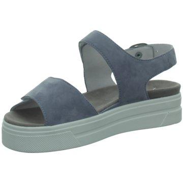 Semler Plateau Sandalette blau