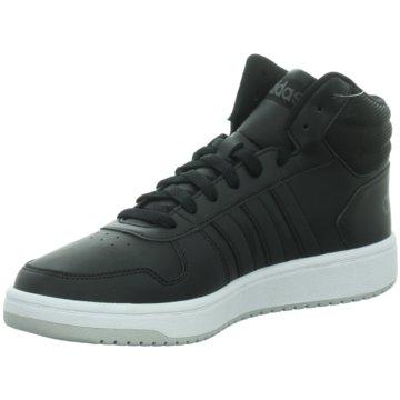 adidas HallenschuheHoops 2.0 schwarz