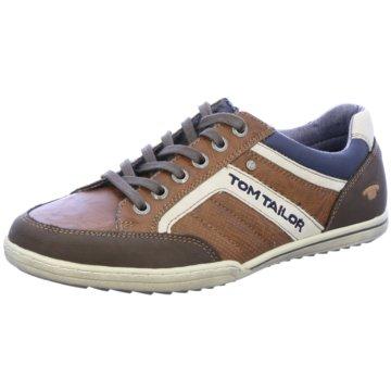 Tom Tailor Sportlicher Schnürschuh braun