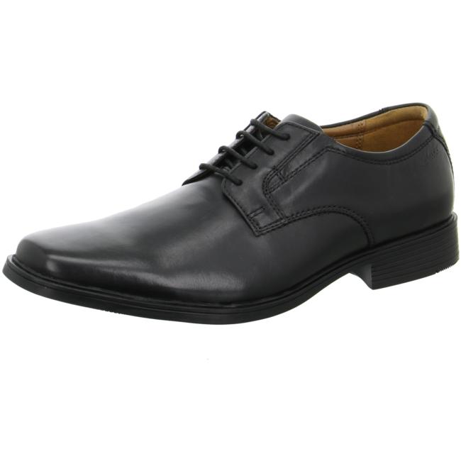 Clarks Herren Schnürschuhe Tilden Plain schwarz 43