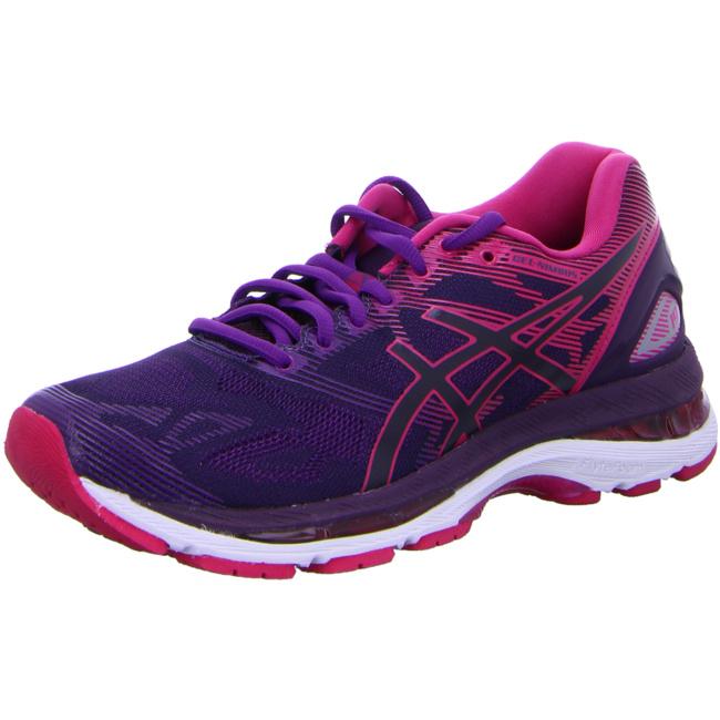 asics Gel Nimbus 19 Damen Laufschuhe Running schwarz pink Running