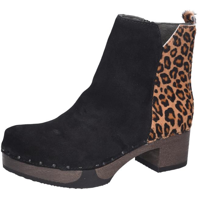 plateau stiefelette tamaris schwarz leo