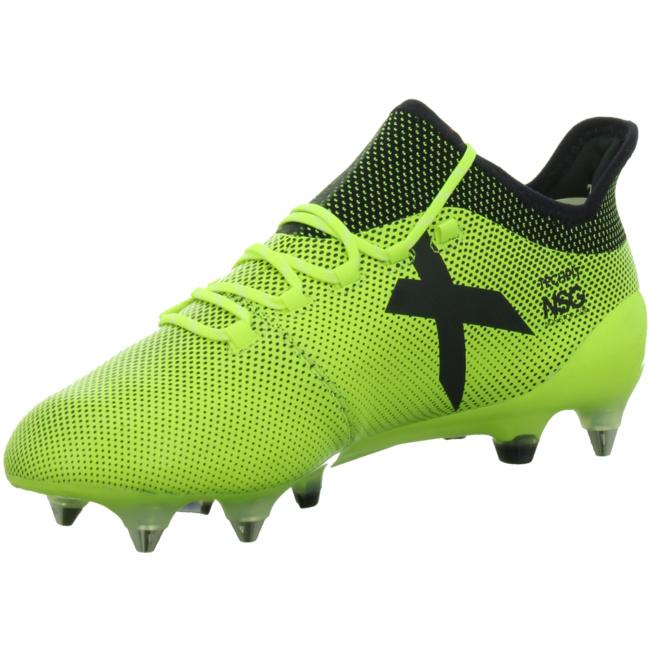 adidas X 17.1 FG Ocean Storm Pack Fußballschuhe gelb schwarz, Größe:43 13 = UK 9